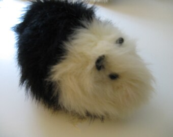 Guinea Pig Plush in Black and White