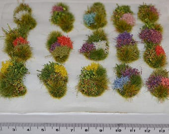 Model flower grass tufts Diorama elements Self Adhesive - Wargame Basing Model Rail