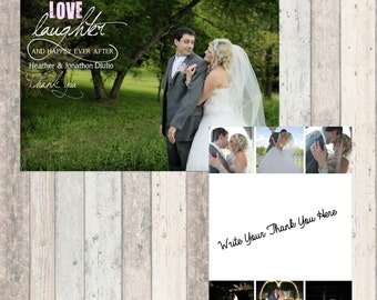Wedding Thank You - Love Laughter and Happily Ever After