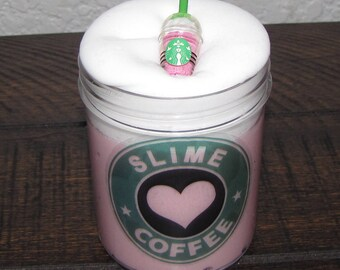 Strawberry cream starbucks frappuccino inspired slime party favors gifts stress relief 1 surprise charm included scented little rubi slime