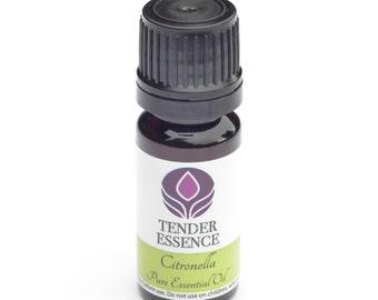 Citronella Essential Oil. Aromatherapy 10ml Bottle.