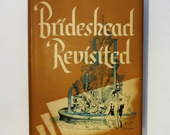 1945 BRIDESHEAD REVISITED by Evelyn Waugh, 1st American Edition First Printing, Dust Jacket