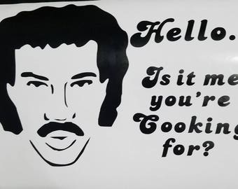 "Vinyl Richie ""Hello"" instant pot/crockpot decal"