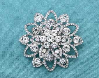 Crystal Brooch, Bridal Brooch, Wedding Brooch, Bouquet Brooch, Wedding Cake Brooch, Rhinestones Pin, Crysal Brooches.