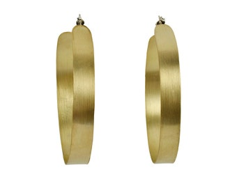 Creole extra large hoops, gold hoop earrings, brass hoops, 3 inches hoops, lightweight hoops, fashion hoops, large boho hoops, thick hoops