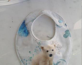 White polar bear bandana bib