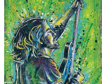 "12"" x 18"" Print - Dave Grohl - Nirvana Foo Fighters - Poster Art Print Pop art rock music"