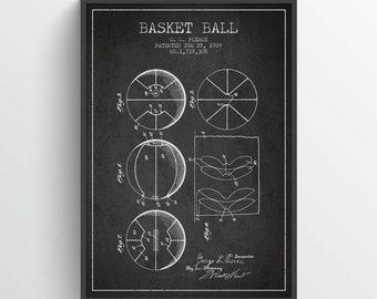 1929 Basket Ball Patent Poster, Basket Ball  Poster, Basket Ball Art Print, Basket Ball Wall Decor, Home Decor, Gift Idea, SA09P