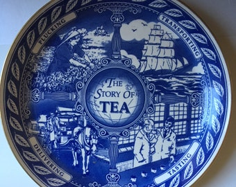 Ringtons Vintage Story of Tea Collectible Plate