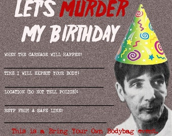 Gary Gilmore Birthday Invitations 8 pack serial killer