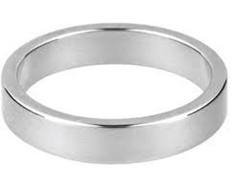 Sterling Silver Flat Ring