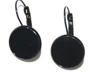 12mm, 20 black earrings (10 pairs) Stud Earrings