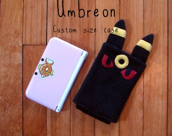 JULY PREORDER 3ds XL Case / Custom Size Pokemon Umbreon pouch carrying case new 3ds / 3ds xl / nintendo switch / psp vita holder cozy