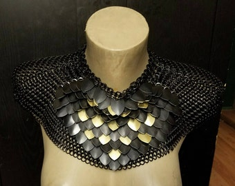 Chain and Scale Mail Cosplay Larp Armored Mantle
