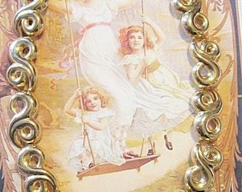 Vintage Gold Scroll Necklace