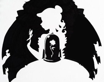 Disney Inspired Beauty and the Beast Decal