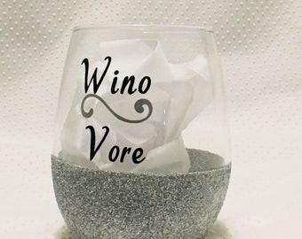 Wino Vore Glitter Wine Glass