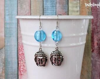 Buddha Earrings, Buddhist Earrings, Buddha Jewelry, Meditation Earrings, Spiritual Earrings, Chakra Earrings, Spiritual Jewelry, Yoga