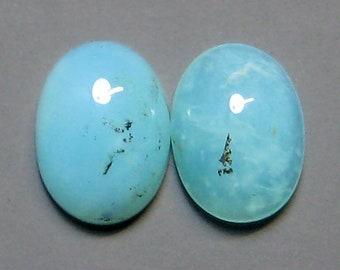 Peruvian Blue Opal Cabochons, 8x6mm