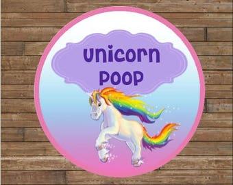 Unicorn Poop Label Etsy