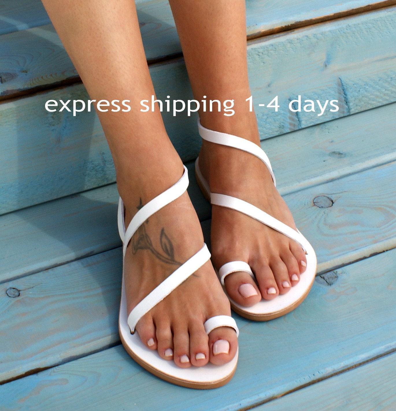 7a4ce8c16515 CLEOPATRA 4 ancient Greek leather sandals  classic leather sandals   handmade sandals  strappy sandals  white sandals  toe ring sandals