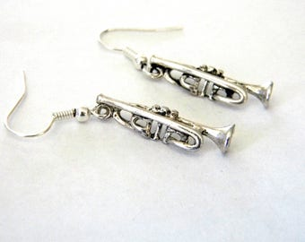 Trumpet Earrings Silver Color Dangle Earrings