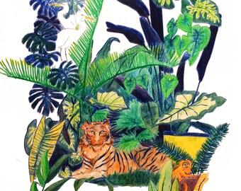 Jungle Scene fine art print