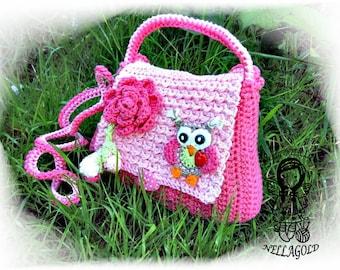 Crochet PATTERN, Owl Purse, Crochet owl bag, Crochet bag pattern, Handbag with Owl in Love, DIY Pattern 22