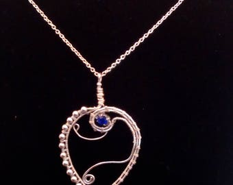 Wire wrapped heart