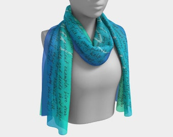 Gorgeous Inspirational Scarf 'A Message to your Soul'