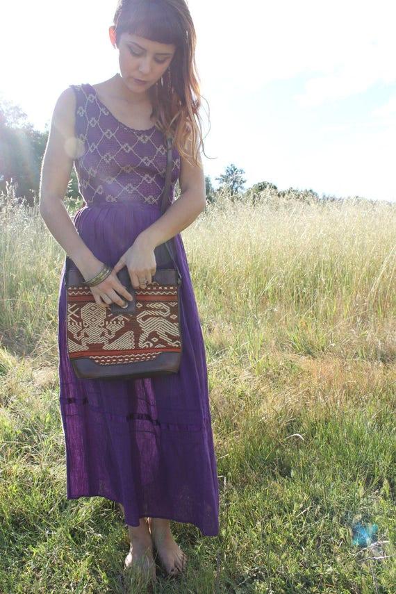 TIGERS EYE Rad 90's Woven Purse Vintage Handbag Woven Shoulder Bag
