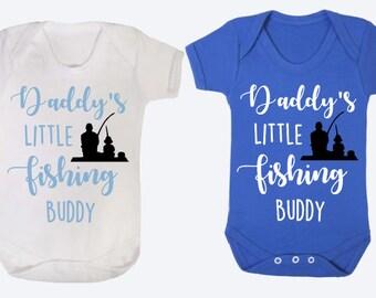 Daddys Little fishing buddy baby vest