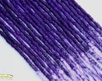 Purple DE x10 Crochet Synthetic Dreads -accent