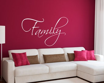 Family Wall Decal - Family Wall Sticker - Living Room Decal - Large
