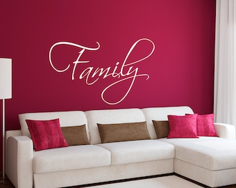 Family Wall Decal   Family Wall Sticker   Living Room Decal   Large