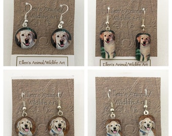 yellow labrador earrings, Golden Retriever earrings, lab jewelry, retriever earrings, pet jewelry, dog jewelry, animal earrings, pet lover