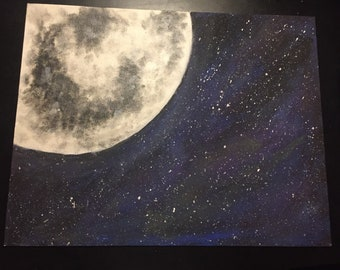 Moon/planet painting