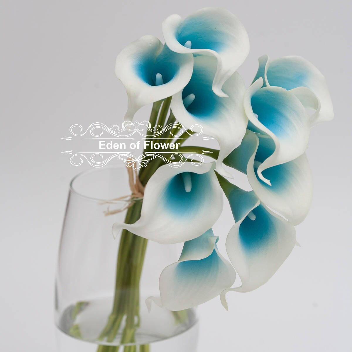 Picasso Turquoise Sky Blue Calla Lilies real touch flowers for ...