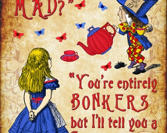 Alice in Wonderland A4 Art Print