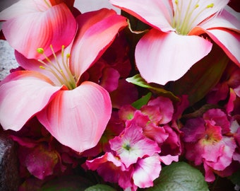 Pink Flowers Color Photography Wall Art Digital Download
