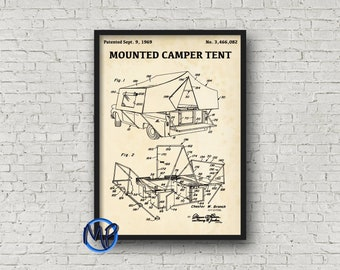 Production of vodka blueprint art digital download bar mounted camper tent patent print retro 1969 patent poster blueprint art patent illustration cabin decor camping gift patent art malvernweather Images