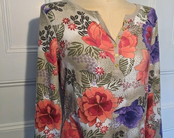 Large Purple and Orange Floral Kaylee Frye Firefly Cosplay Top - Ready to Ship