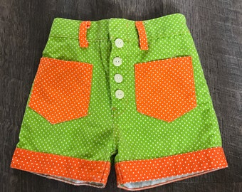 60s High Waisted Polka Dot Shorts 3T 4T