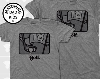Fathers Day Golf,  Father Son Matching Shirts, Daddy Daughter Shirt, Dad Baby Matching, Dad Matching, Dad Son Shirts, Dad and Me Shirt, Golf