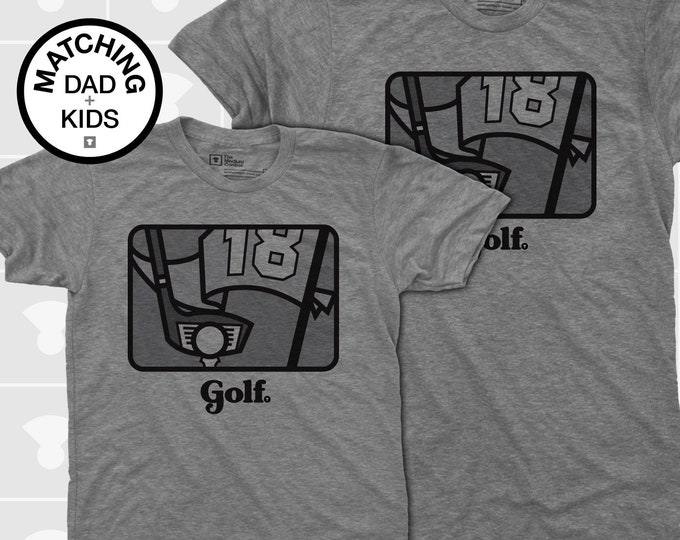 Featured listing image: Matching Dad and Me Shirts - Golf