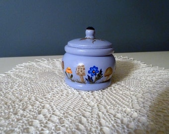 Hand Painted Ring box, Desk art, Cubicle decor, Small jewelry box, Morel mushrooms, Wooden box, Mini Card included,