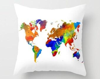 Pillow worldmap etsy gumiabroncs Choice Image