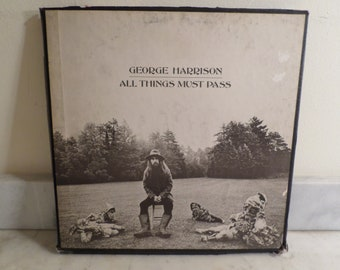 Vintage 1970 Apple Records LP Set George Harrison All Things Must Pass Excellent Condition Box Set 15931