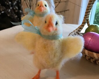 Needlefelt animals wool chick Easter