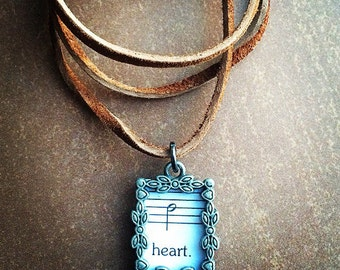 "Lyric choker- ""heart."""